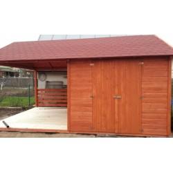 Domek narzędziowy + altana, drewniany, 210x400!!